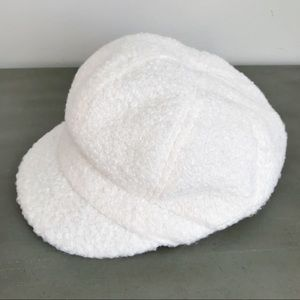 August Hat Company White Textured Newsboy Cap
